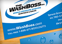 The Washboss Mobile Pressure Washing Logo Design