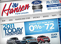 Hansen Ford Lincoln Website Design